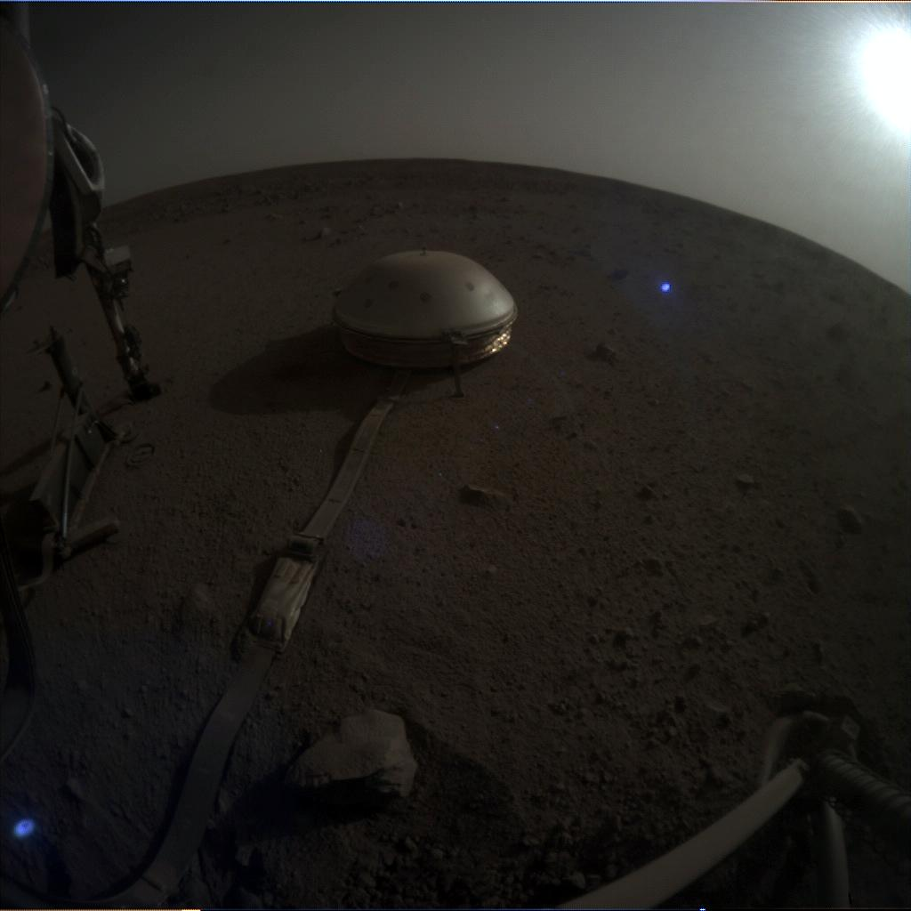 Nasa's Mars lander InSight acquired this image using its Instrument Context Camera on Sol 657
