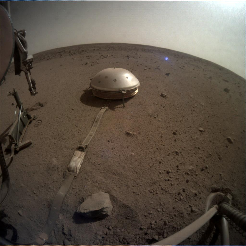Nasa's Mars lander InSight acquired this image using its Instrument Context Camera on Sol 659