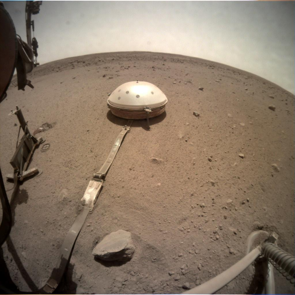 Nasa's Mars lander InSight acquired this image using its Instrument Context Camera on Sol 667