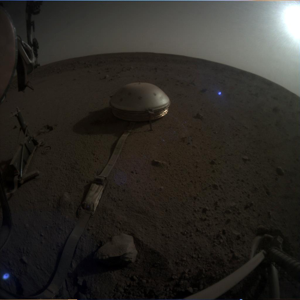 Nasa's Mars lander InSight acquired this image using its Instrument Context Camera on Sol 668