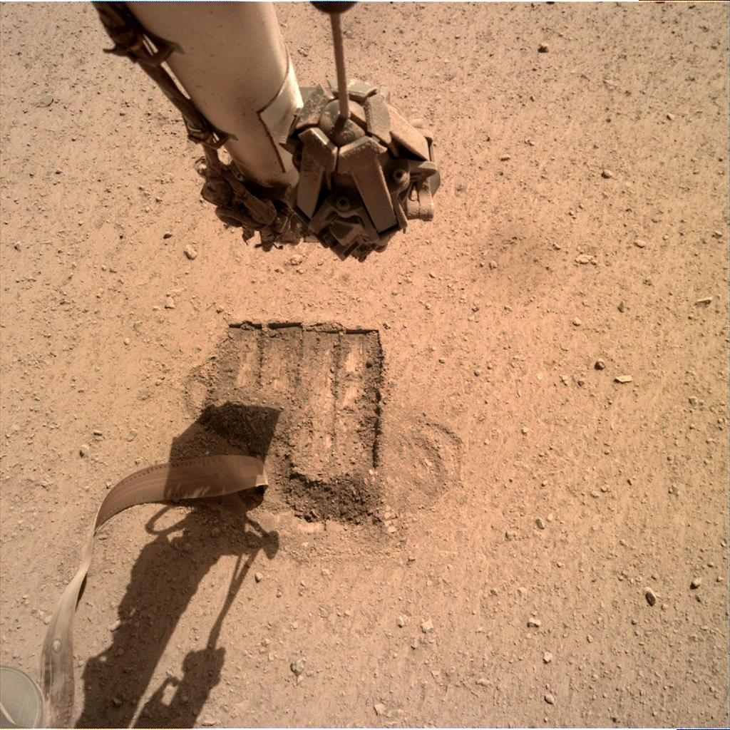 Nasa's Mars lander InSight acquired this image using its Instrument Deployment Camera on Sol 683