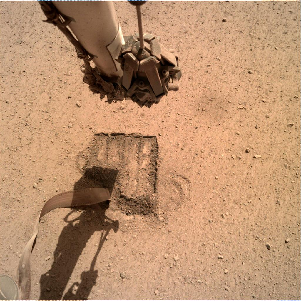 Nasa's Mars lander InSight acquired this image using its Instrument Deployment Camera on Sol 685