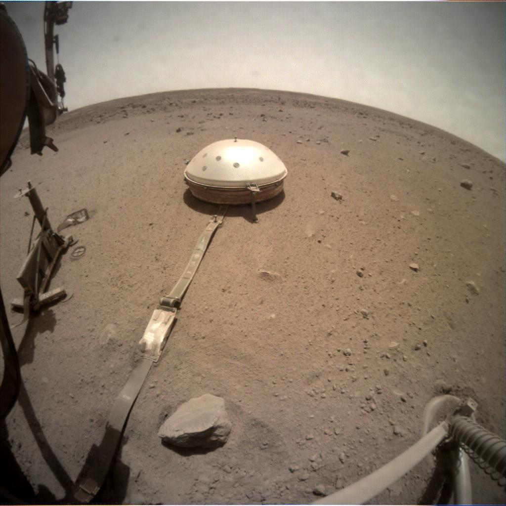 Nasa's Mars lander InSight acquired this image using its Instrument Context Camera on Sol 690