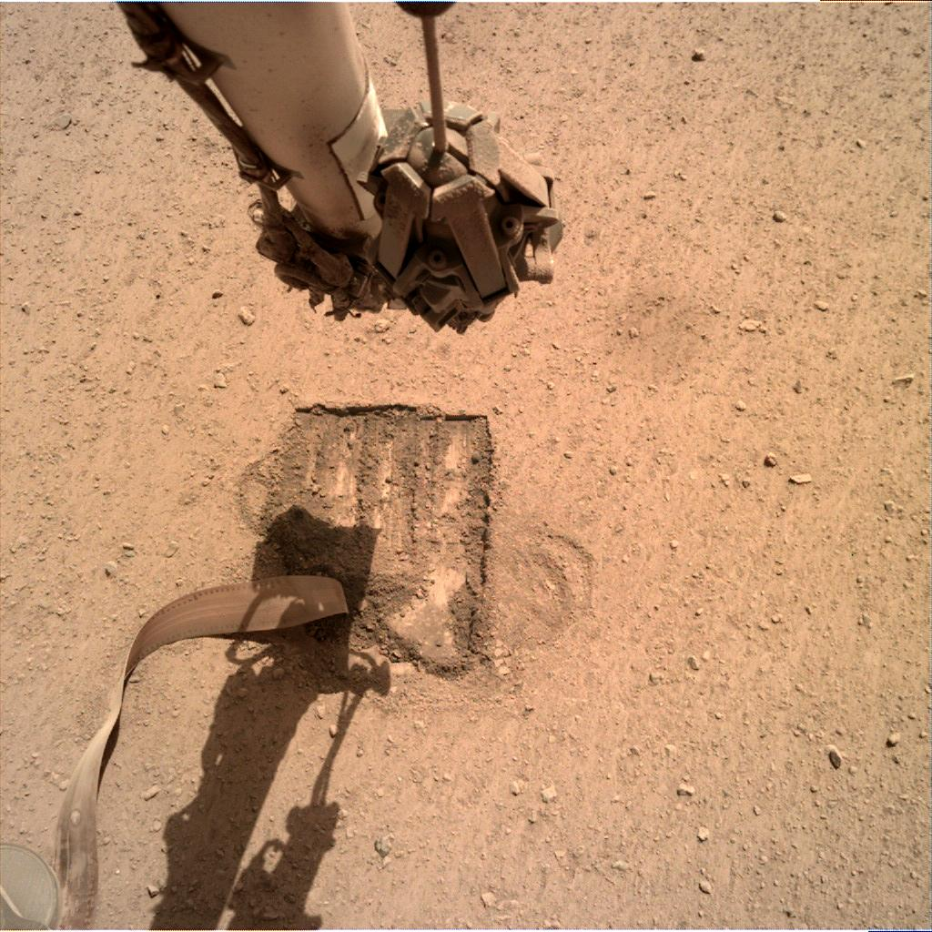Nasa's Mars lander InSight acquired this image using its Instrument Deployment Camera on Sol 704