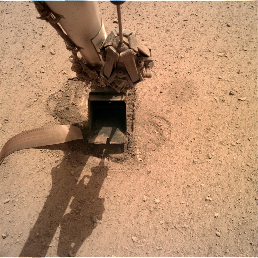 Nasa's Mars lander InSight acquired this image using its Instrument Deployment Camera on Sol 710