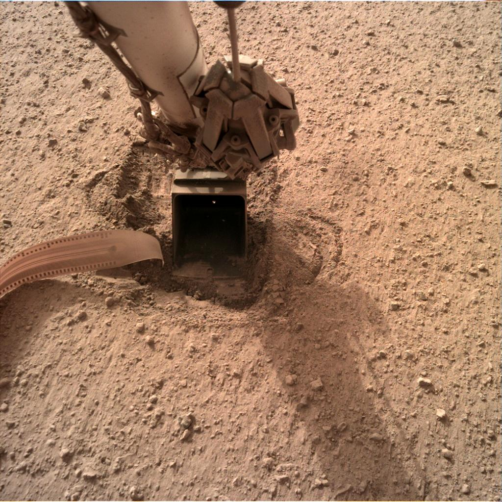 Nasa's Mars lander InSight acquired this image using its Instrument Deployment Camera on Sol 721