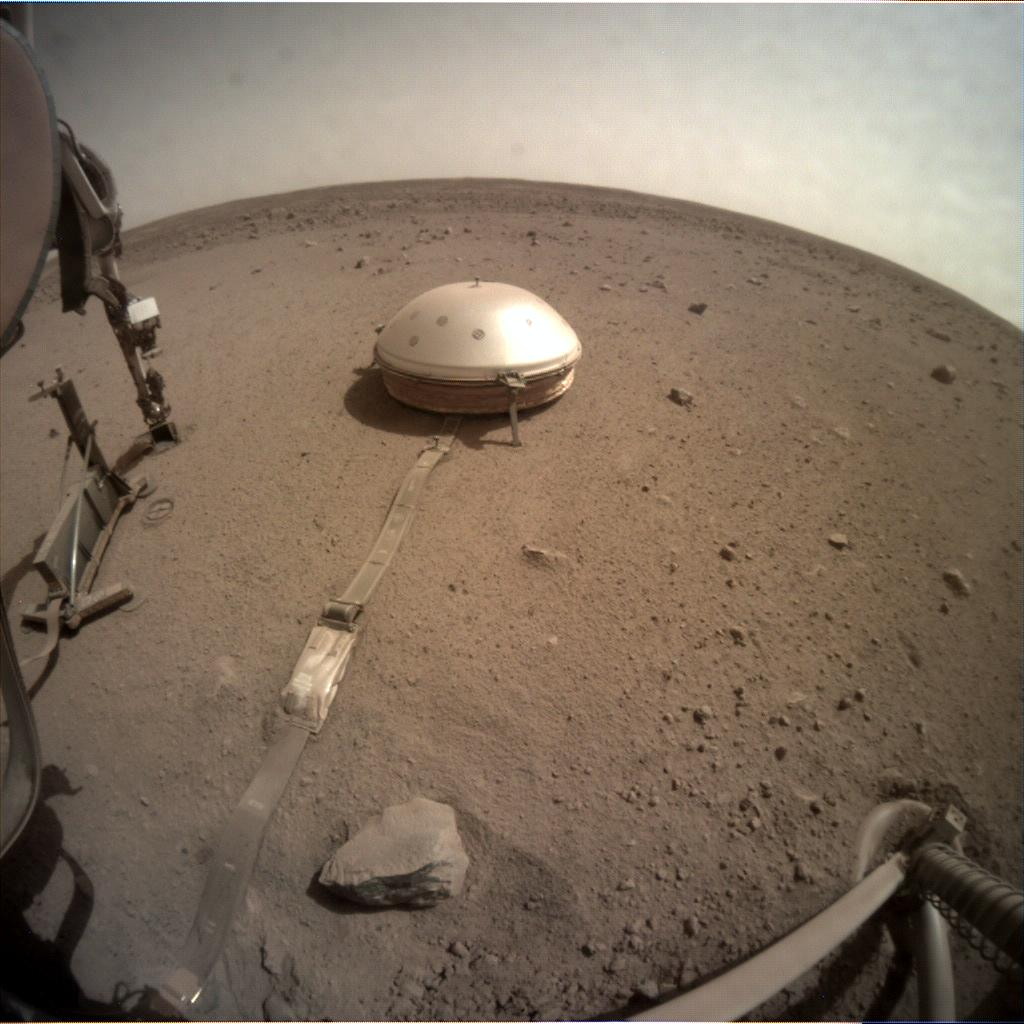 Nasa's Mars lander InSight acquired this image using its Instrument Context Camera on Sol 734