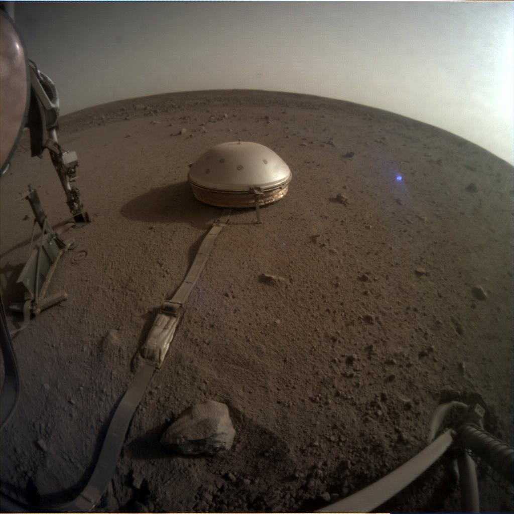 Nasa's Mars lander InSight acquired this image using its Instrument Context Camera on Sol 737