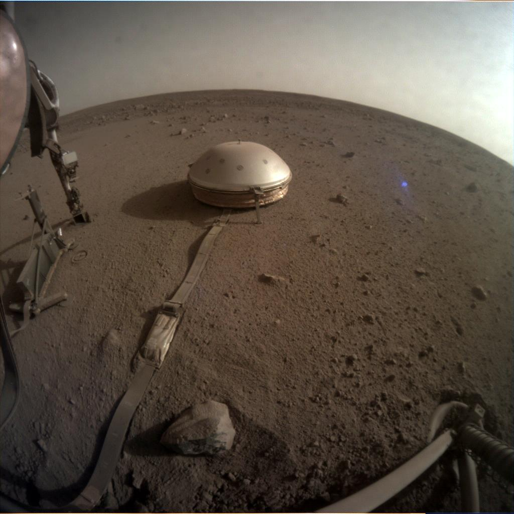 Nasa's Mars lander InSight acquired this image using its Instrument Context Camera on Sol 755
