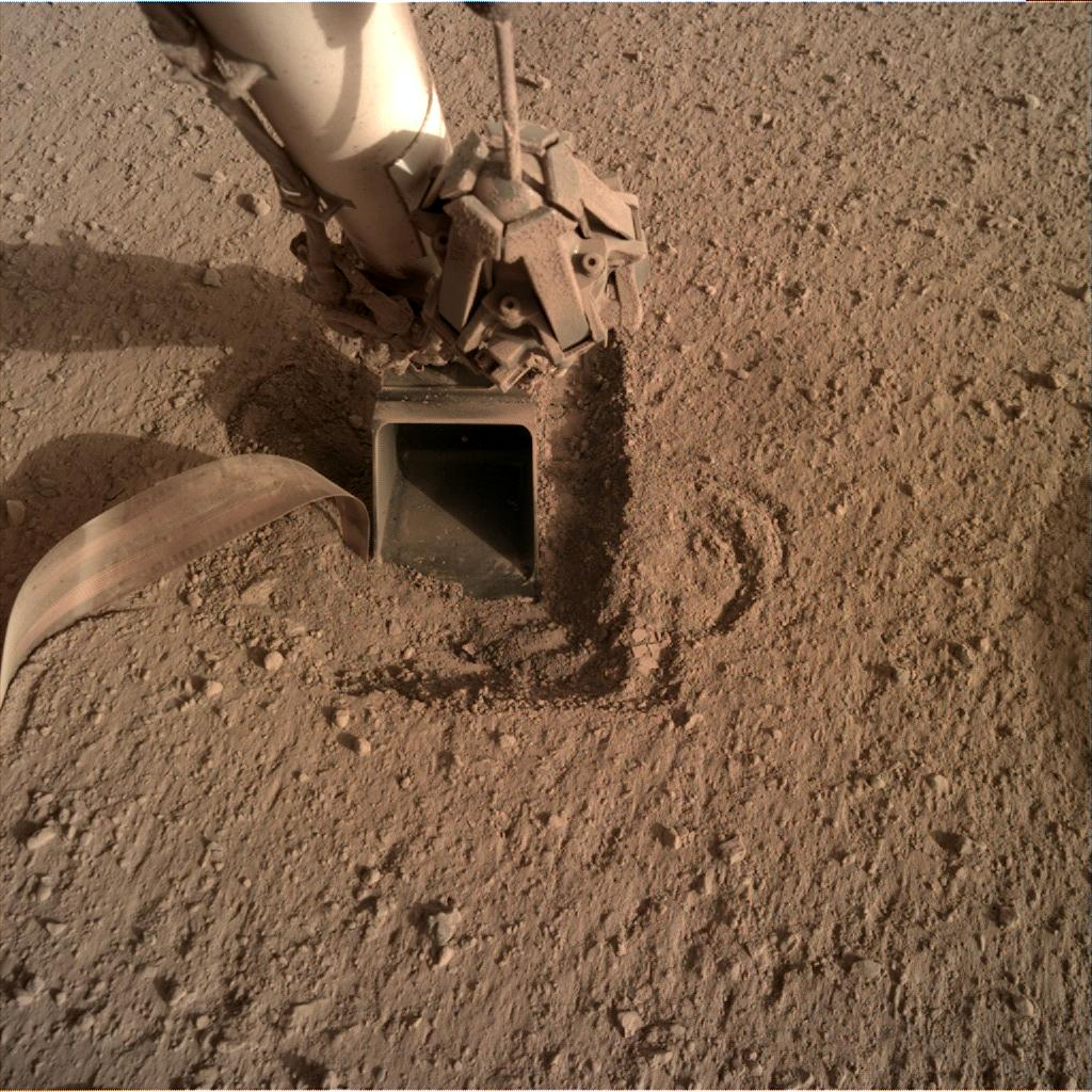 Nasa's Mars lander InSight acquired this image using its Instrument Deployment Camera on Sol 759