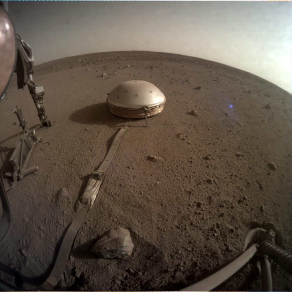 Nasa's Mars lander InSight acquired this image using its Instrument Context Camera on Sol 762
