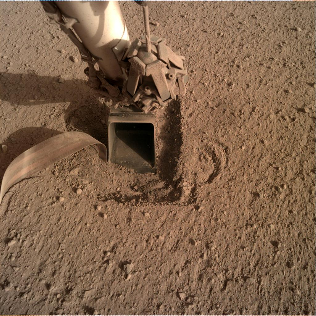 Nasa's Mars lander InSight acquired this image using its Instrument Deployment Camera on Sol 764