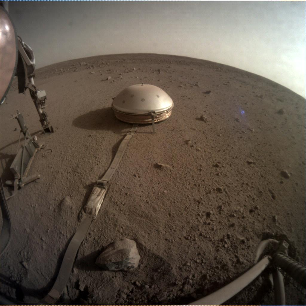 Nasa's Mars lander InSight acquired this image using its Instrument Context Camera on Sol 766