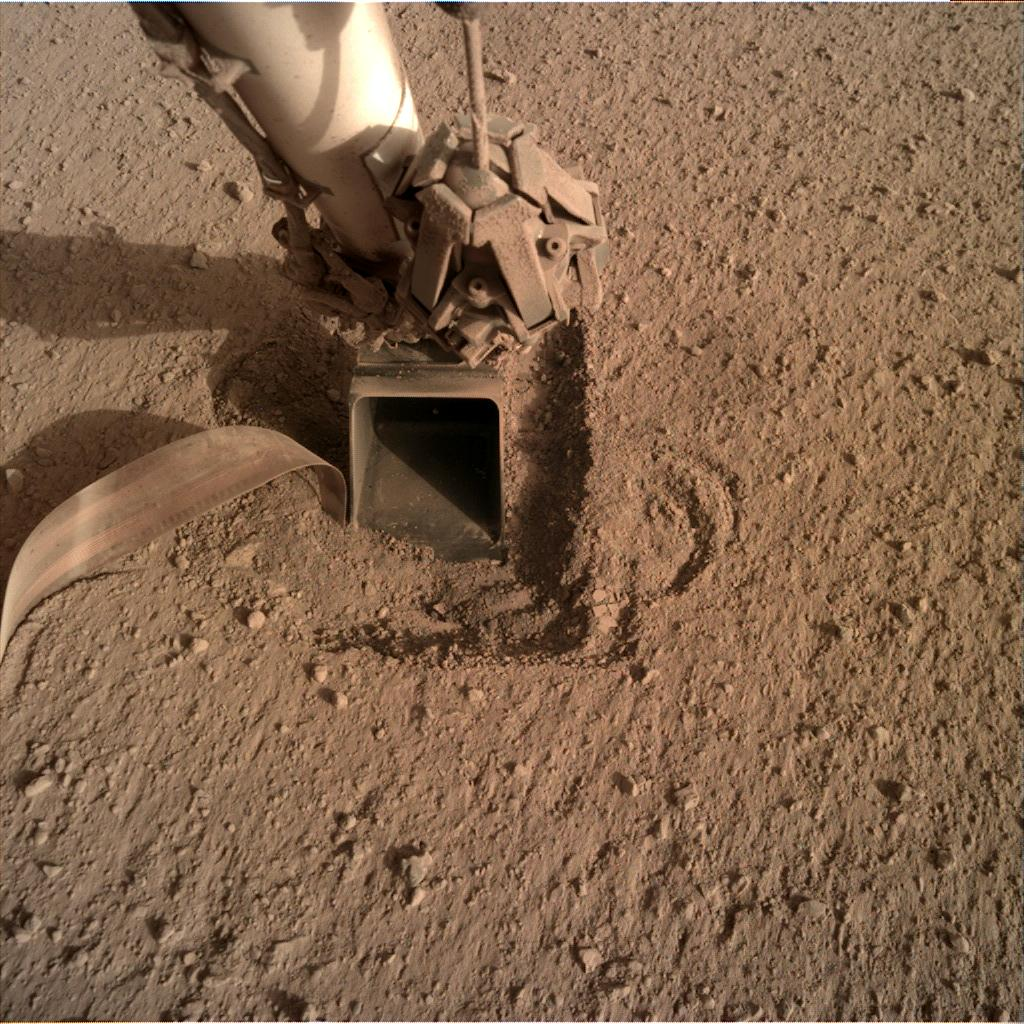 Nasa's Mars lander InSight acquired this image using its Instrument Deployment Camera on Sol 766