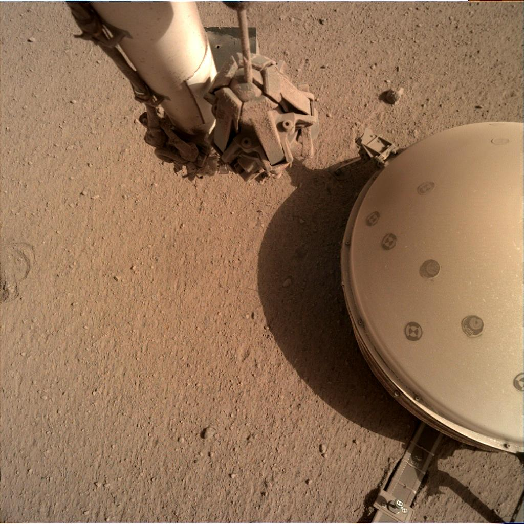Nasa's Mars lander InSight acquired this image using its Instrument Deployment Camera on Sol 788