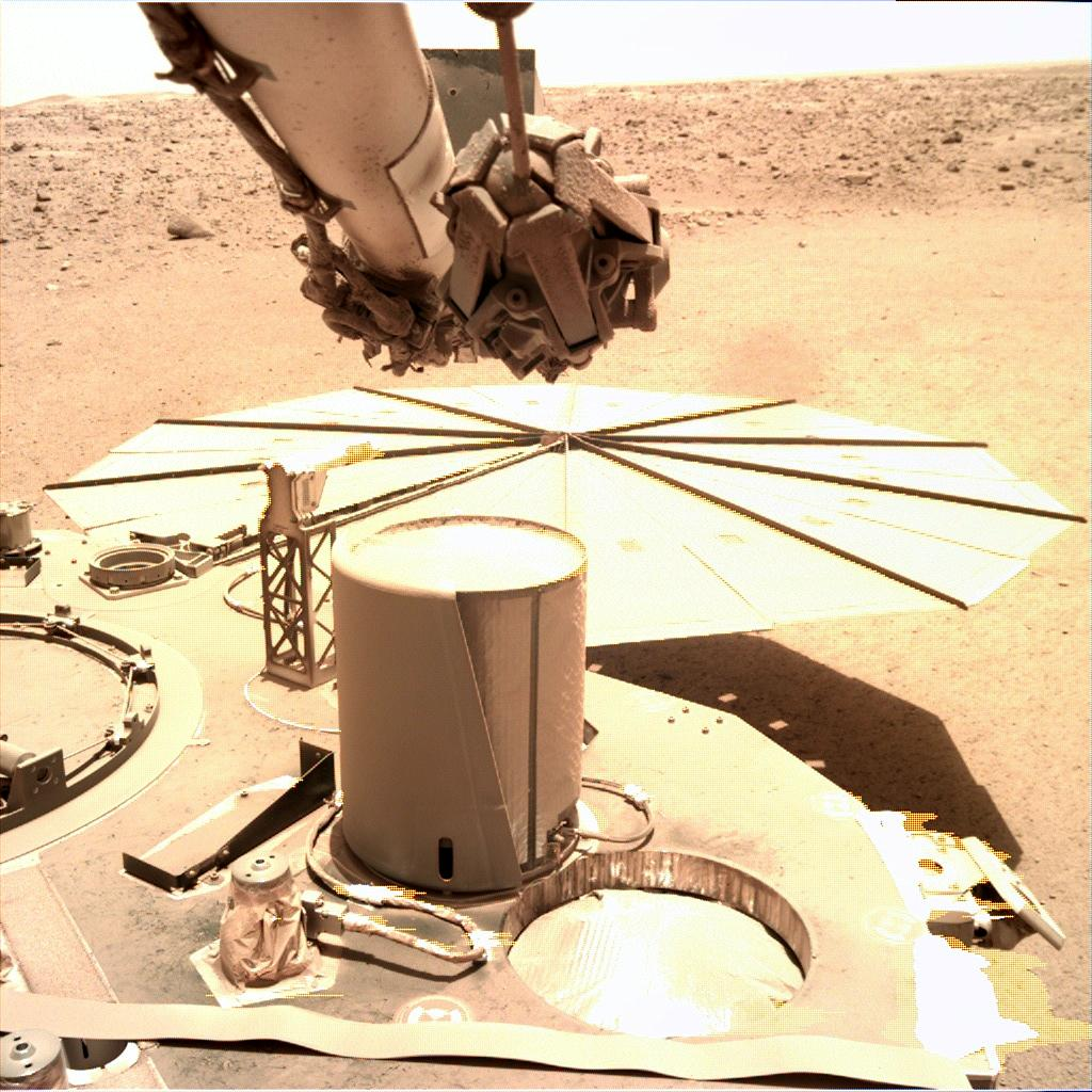 Nasa's Mars lander InSight acquired this image using its Instrument Deployment Camera on Sol 789