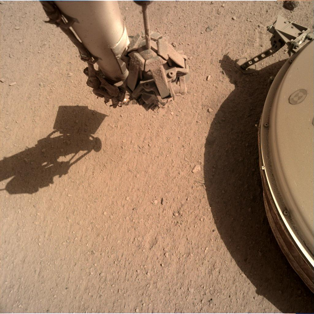 Nasa's Mars lander InSight acquired this image using its Instrument Deployment Camera on Sol 802