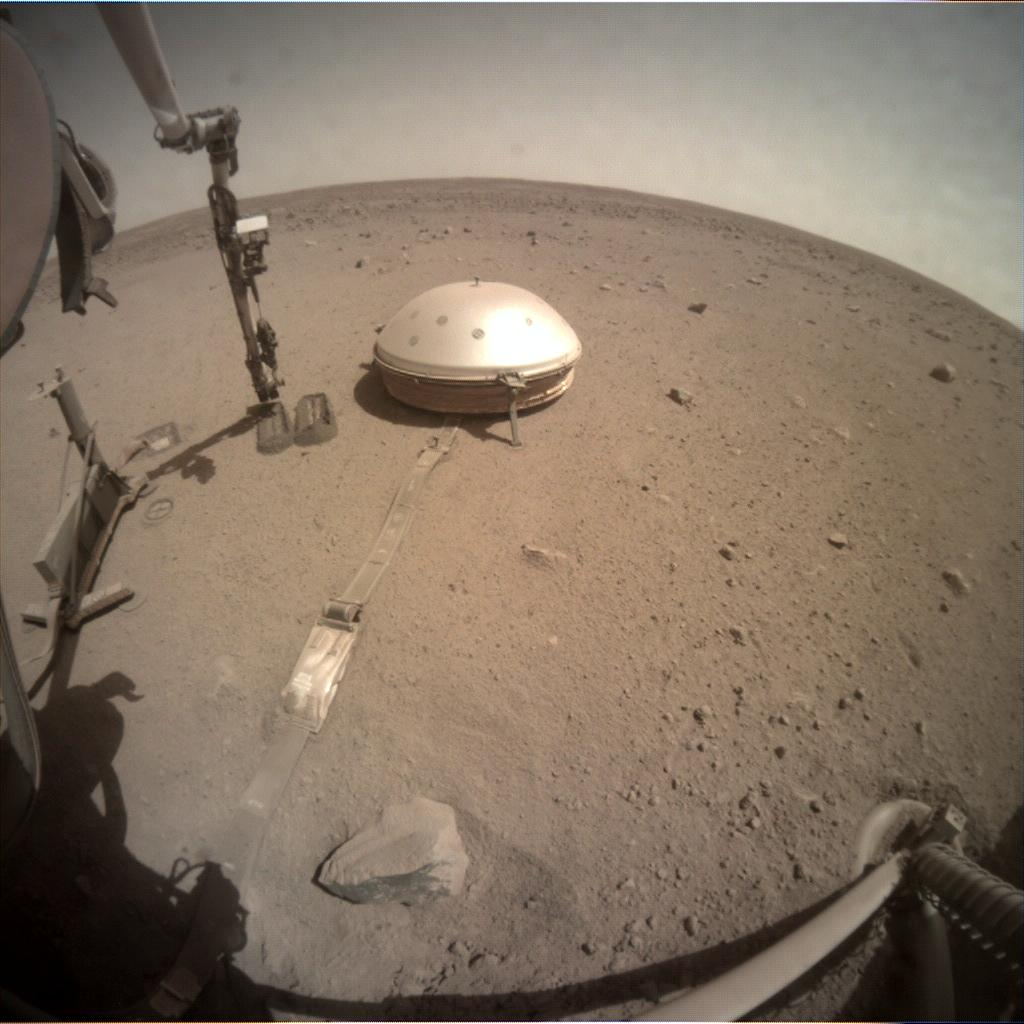 Nasa's Mars lander InSight acquired this image using its Instrument Context Camera on Sol 803