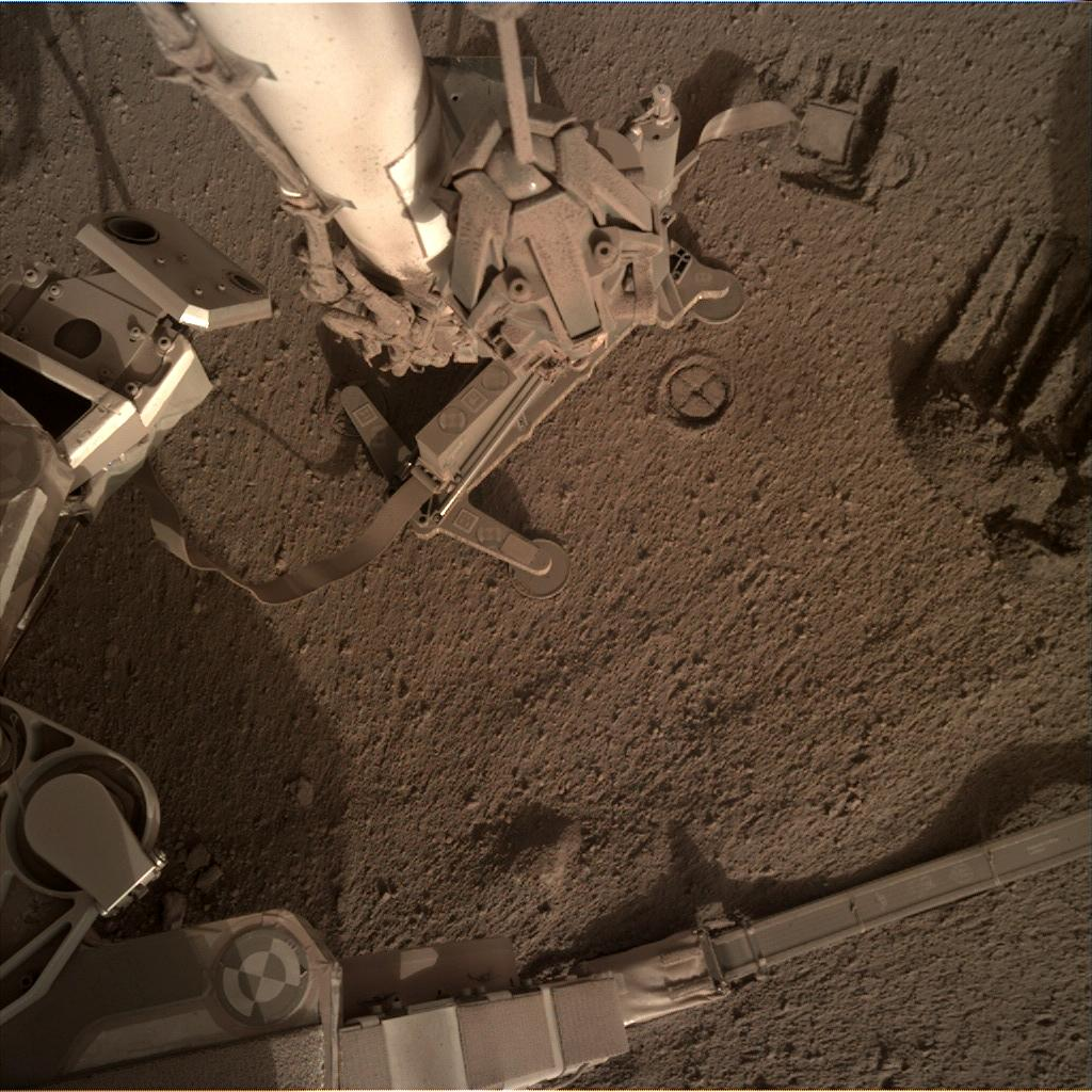 Nasa's Mars lander InSight acquired this image using its Instrument Deployment Camera on Sol 834