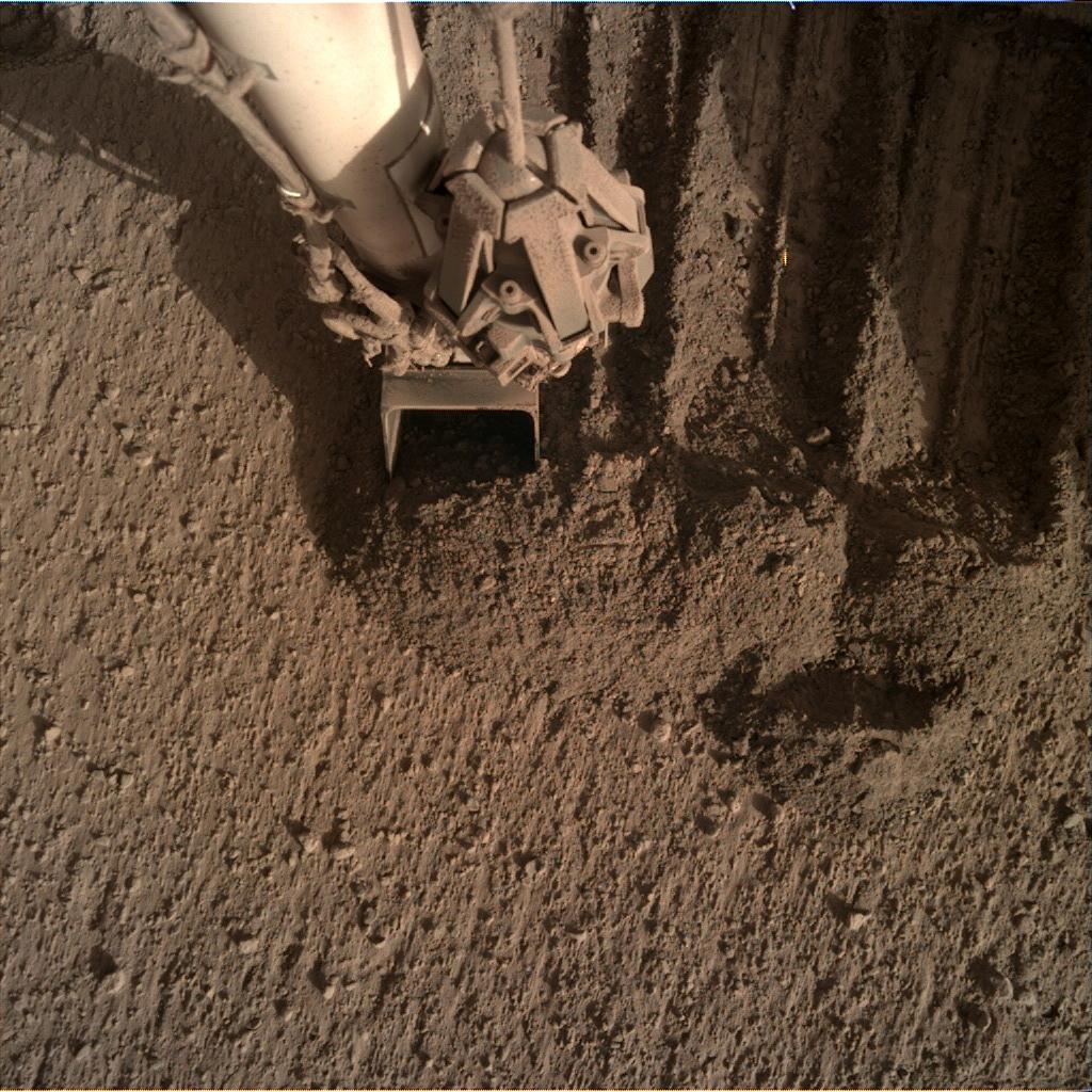 Nasa's Mars lander InSight acquired this image using its Instrument Deployment Camera on Sol 836