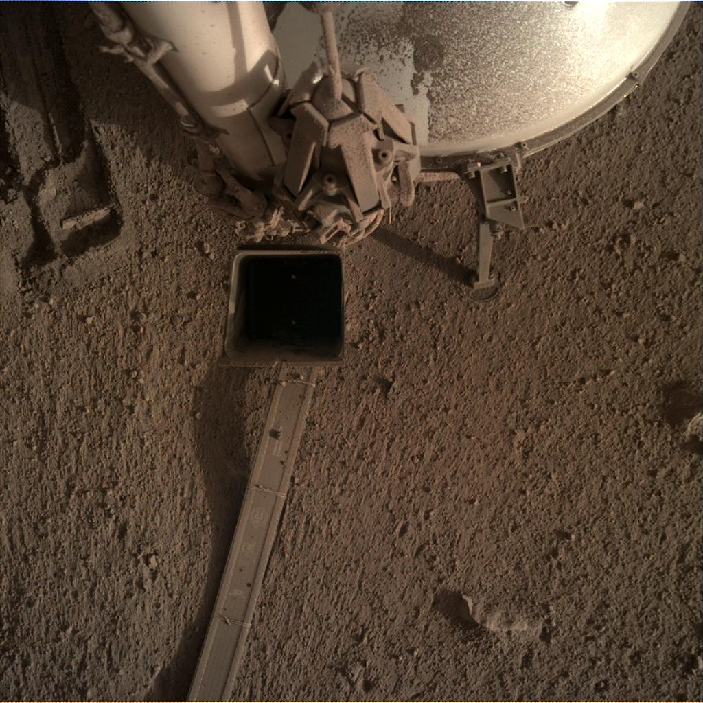 Nasa's Mars lander InSight acquired this image using its Instrument Deployment Camera on Sol 863