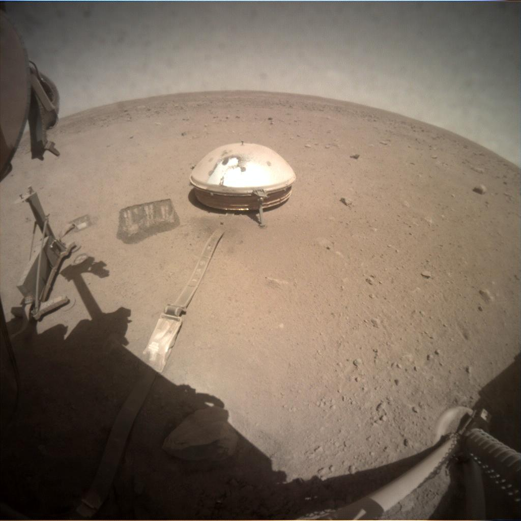 Nasa's Mars lander InSight acquired this image using its Instrument Context Camera on Sol 884