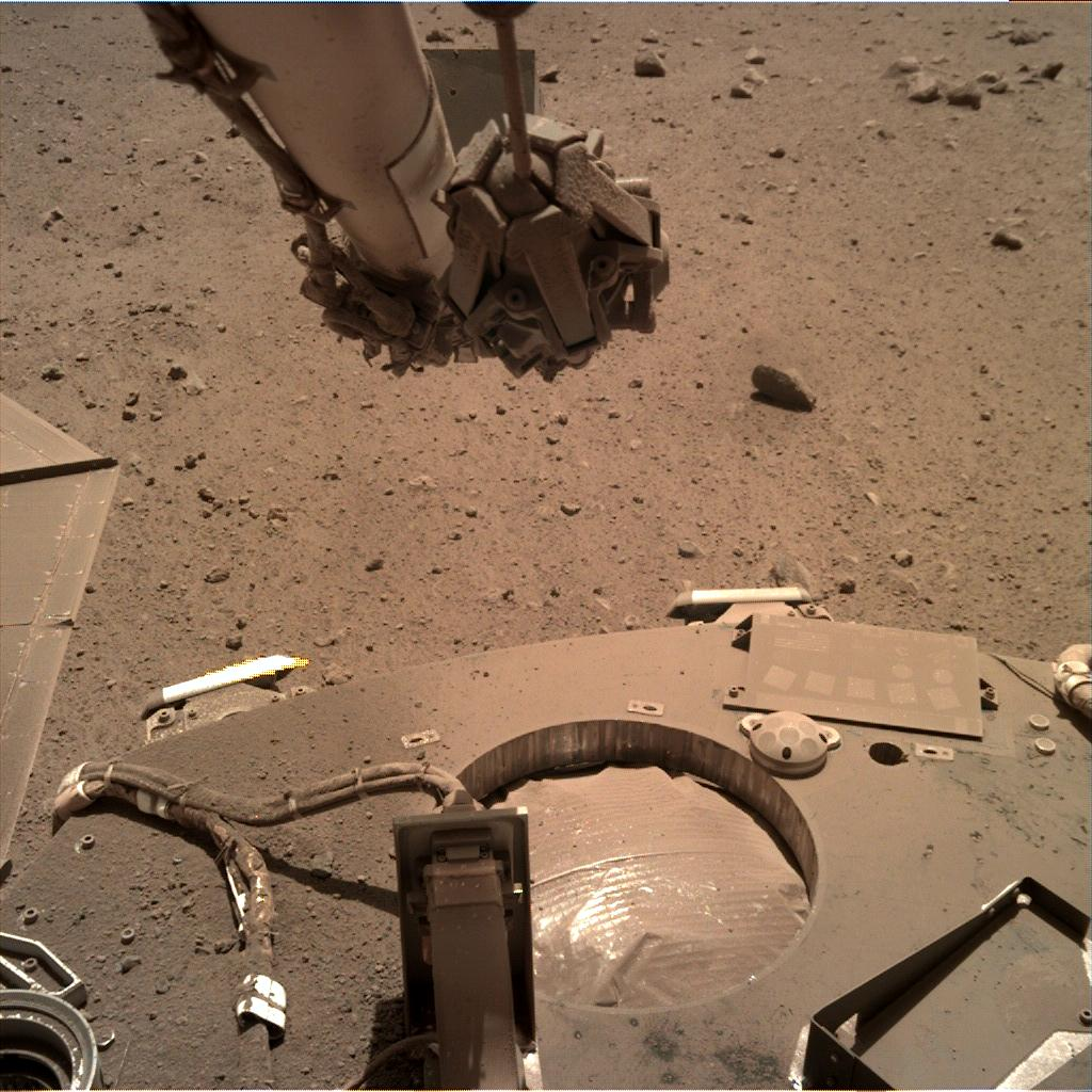Nasa's Mars lander InSight acquired this image using its Instrument Deployment Camera on Sol 918