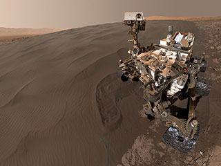 Curiosity Rover taking a selfie on Mars