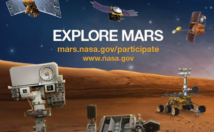 Explore Mars Sticker