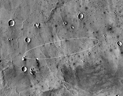 The site area on Elysium Planitia chosen for landing (NASA/JPL)