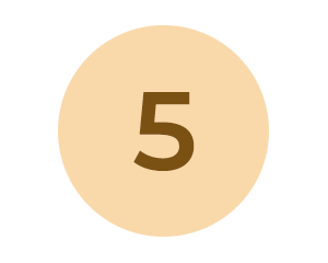 Circle with number 5