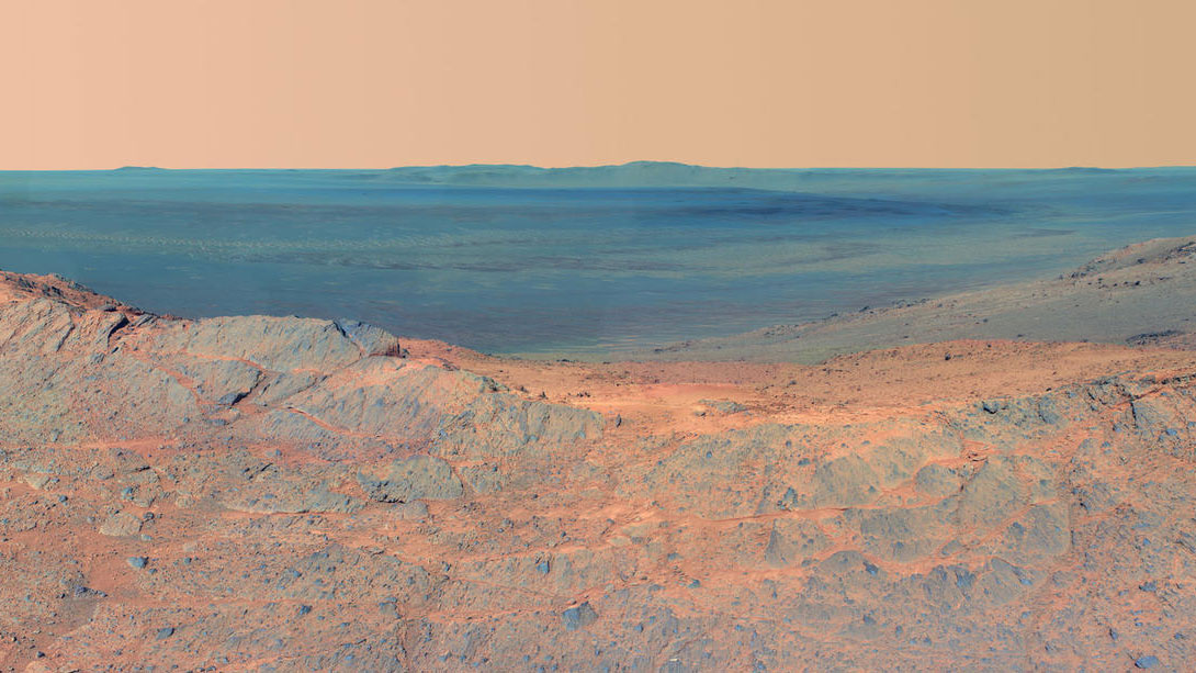 'Pillinger Point' Overlooking Endeavour Crater on Mars