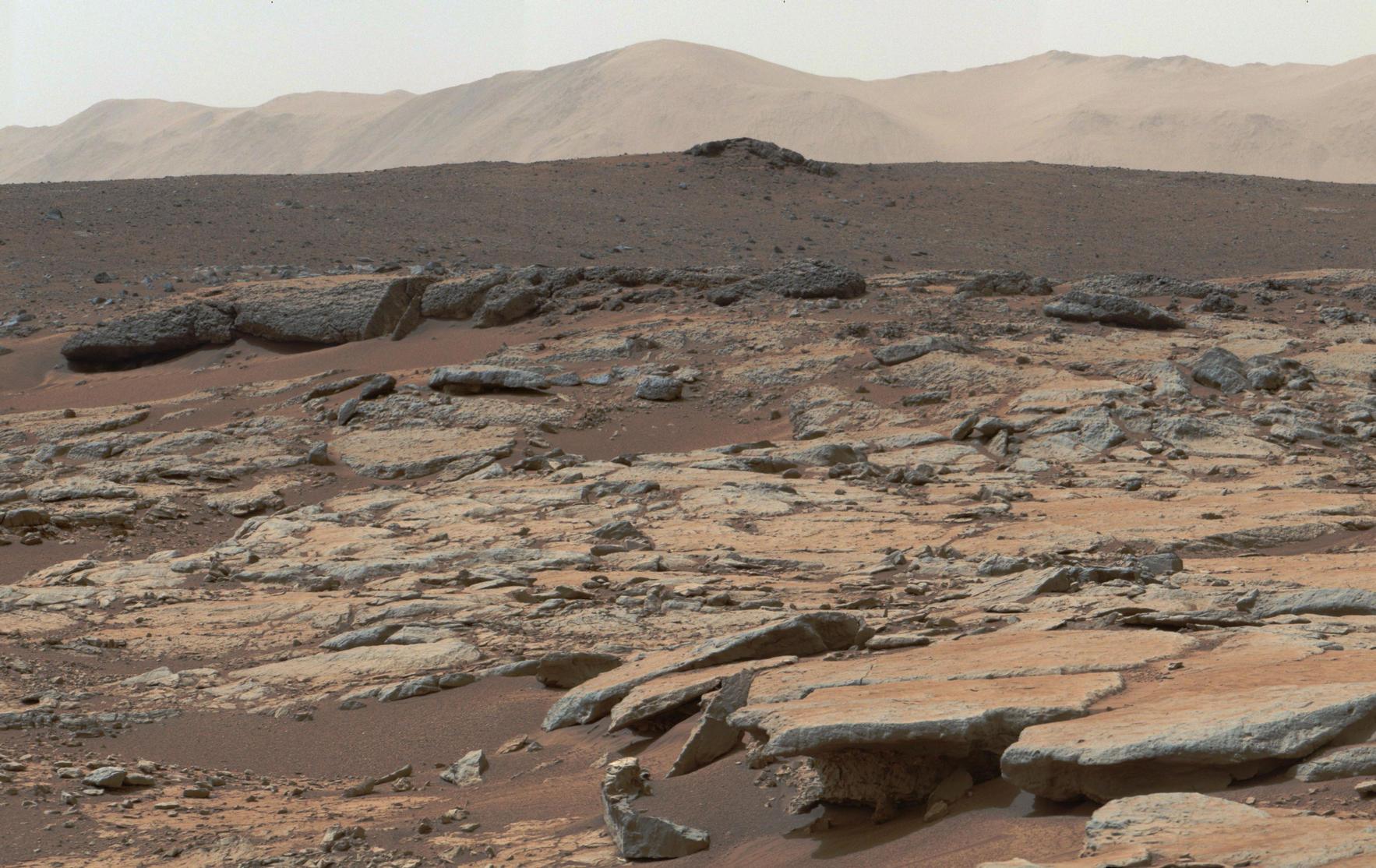 Krater Gale - zdjęcie wykonane przez łazik Curiosity