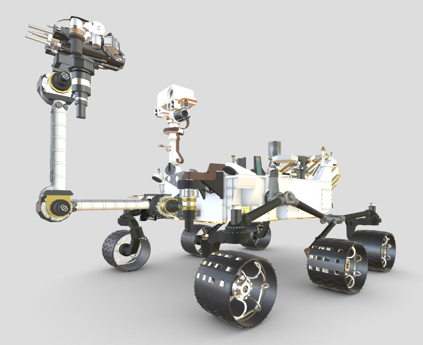 Explore the Curiosity Rover in 3D