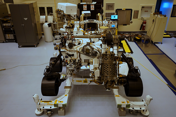 Front View of Perseverance Rover