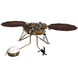 InSight lander cutout