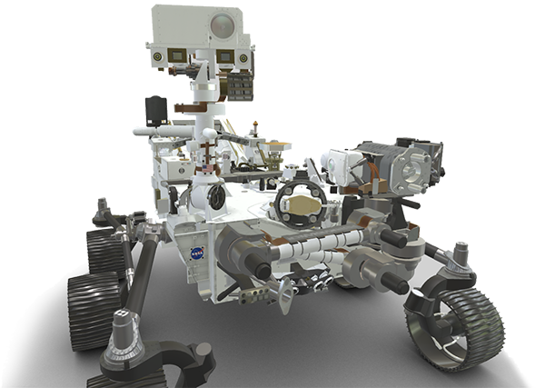 3D model image of the Perseverance Rover