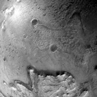 View image taken on Mars, Mars Perseverance Sol 0: Lander Vision System Camera