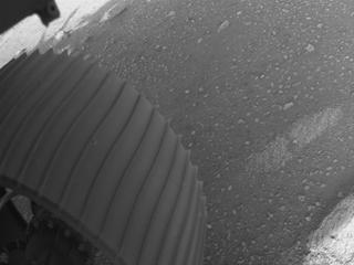 View image taken on Mars, Mars Perseverance Sol 0: Front Left Hazard Avoidance Camera (Hazcam)