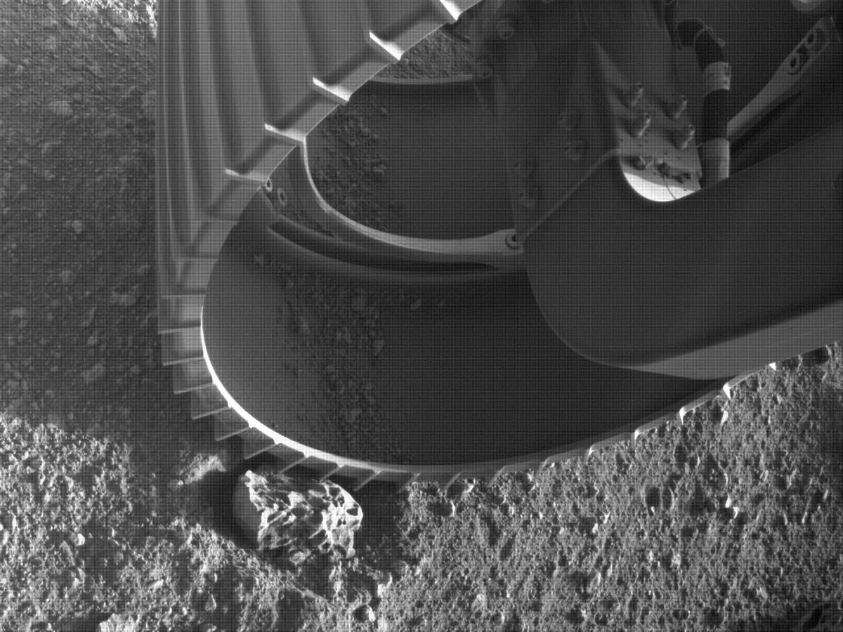 This image was taken by FRONT_HAZCAM_RIGHT_A onboard NASA's Mars rover Perseverance on Sol 0