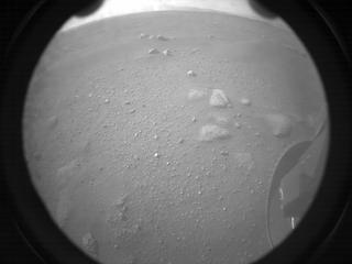 View image taken on Mars, Mars Perseverance Sol 0: Rear Right Hazard Avoidance Camera (Hazcam)
