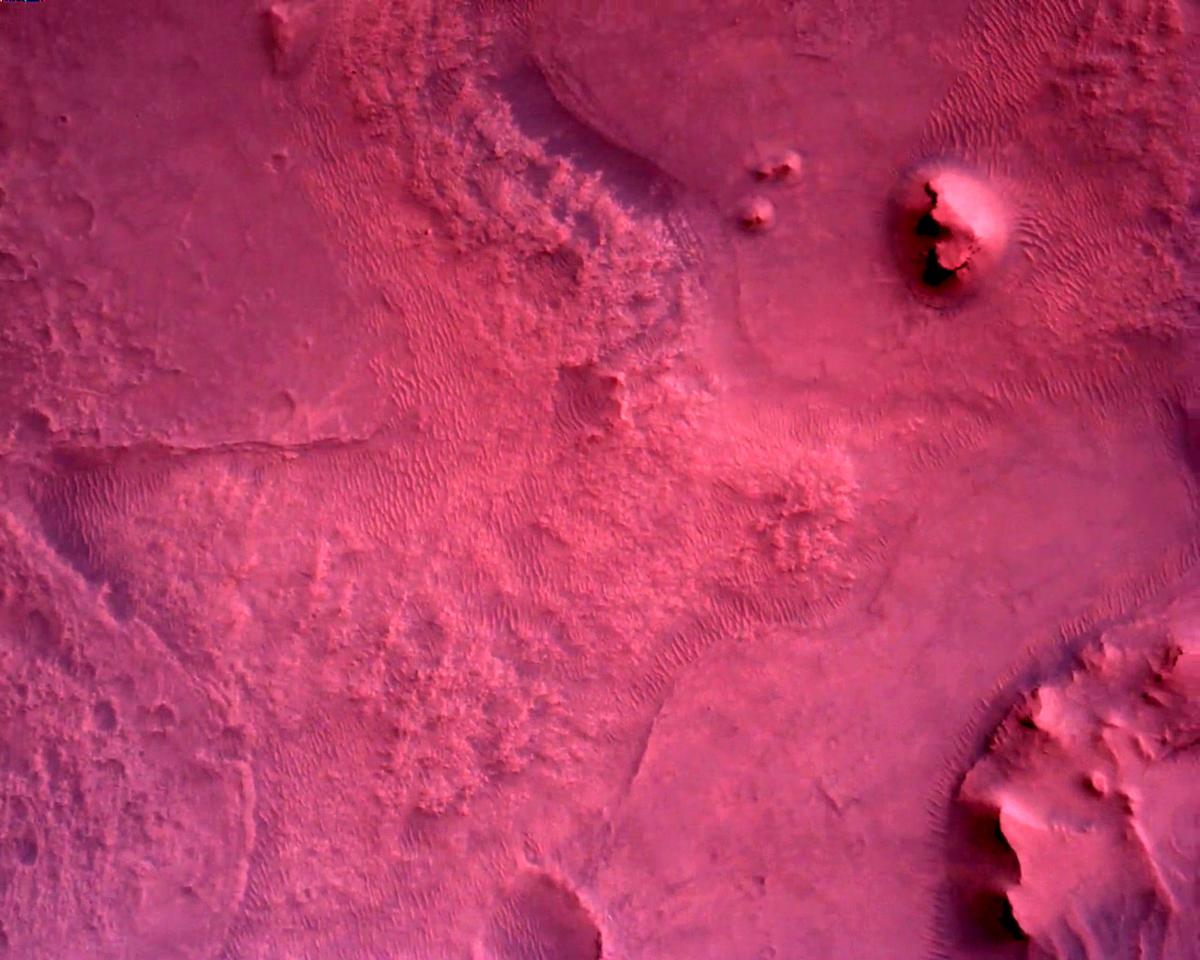 This image was taken by EDL_RDCAM onboard NASA's Mars rover Perseverance on Sol 2
