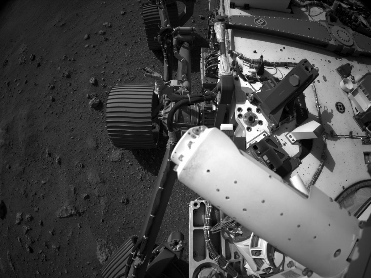 This image was taken by NAVCAM_LEFT onboard NASA's Mars rover Perseverance on Sol 2