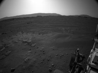 View image taken on Mars, Mars Perseverance Sol 2: Left Navigation Camera (Navcam)