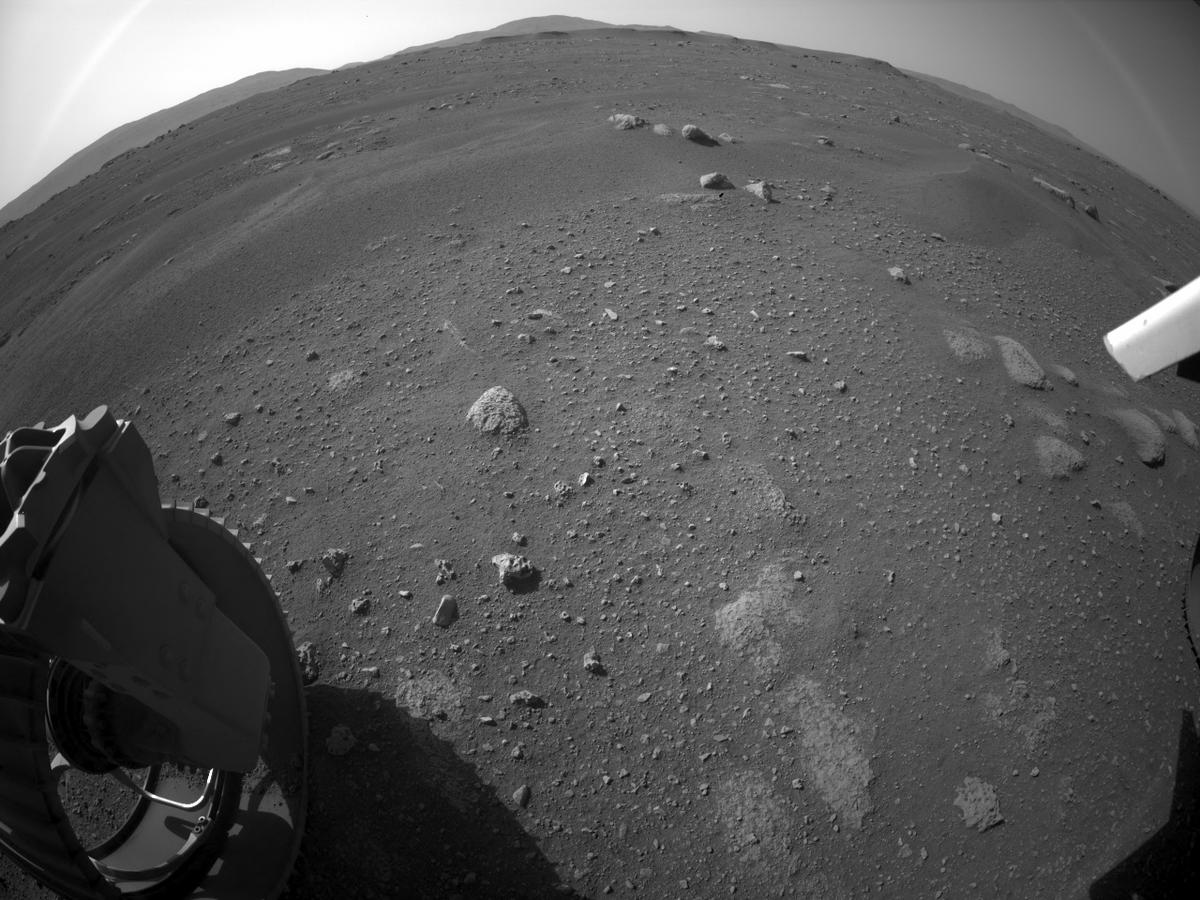This image was taken by REAR_HAZCAM_LEFT onboard NASA's Mars rover Perseverance on Sol 2