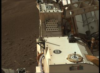 View image taken on Mars, Mars Perseverance Sol 2: Left Mastcam-Z Camera