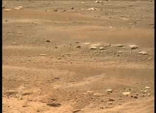 View image taken on Mars, Mars Perseverance Sol 3: Left Mastcam-Z Camera