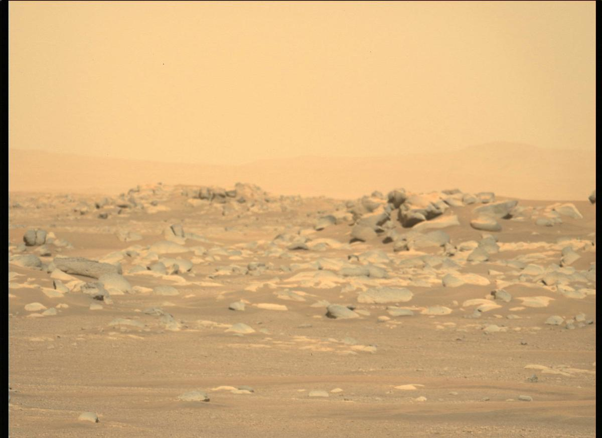 This image was taken by MCZ_LEFT onboard NASA's Mars rover Perseverance on Sol 4