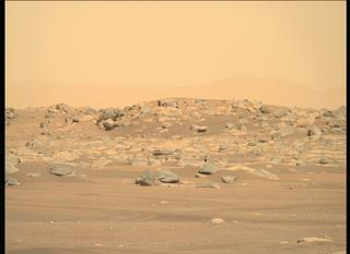 View image taken on Mars, Mars Perseverance Sol 4: Right Mastcam-Z Camera