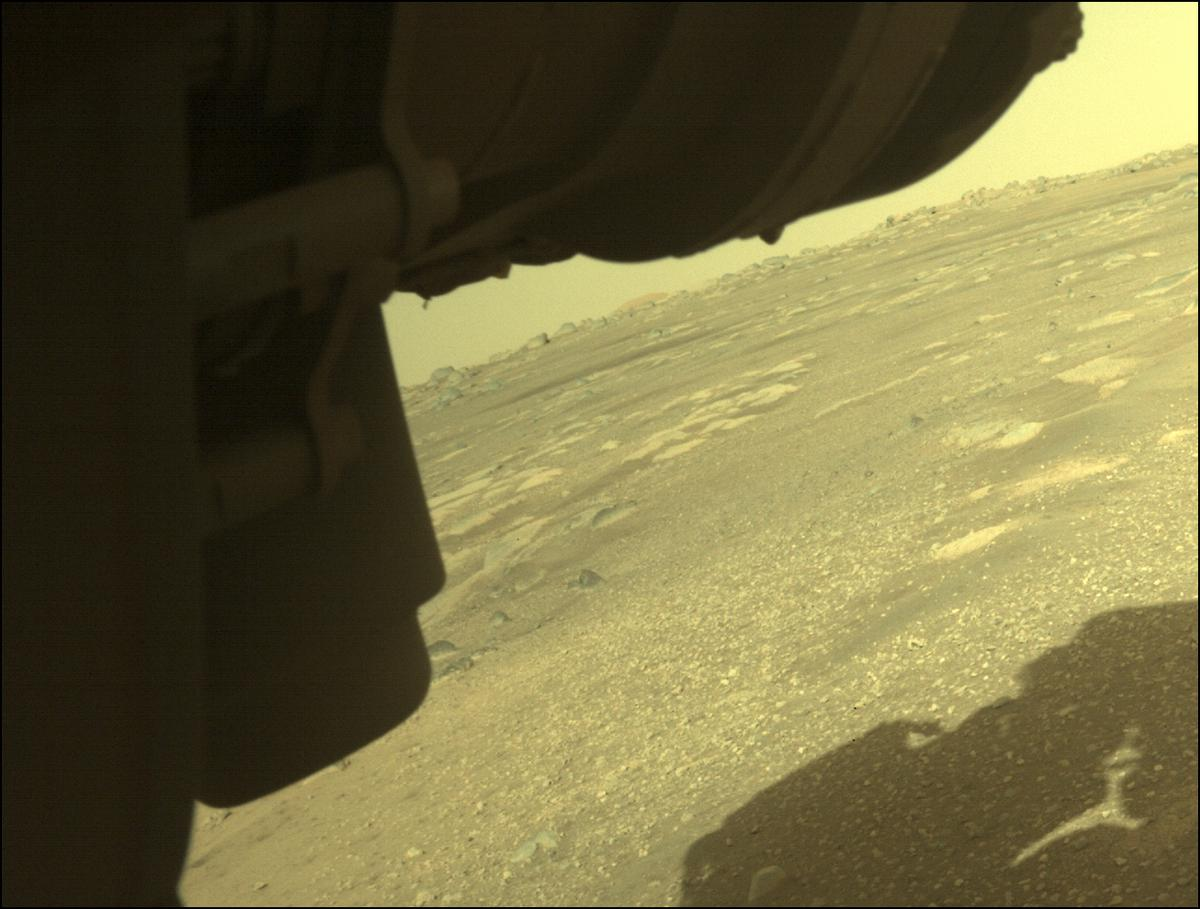 This image was taken by FRONT_HAZCAM_LEFT_A onboard NASA's Mars rover Perseverance on Sol 9